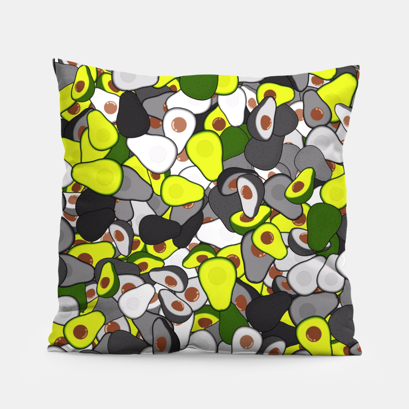 Image of Avocado camouflage Pillow - Live Heroes