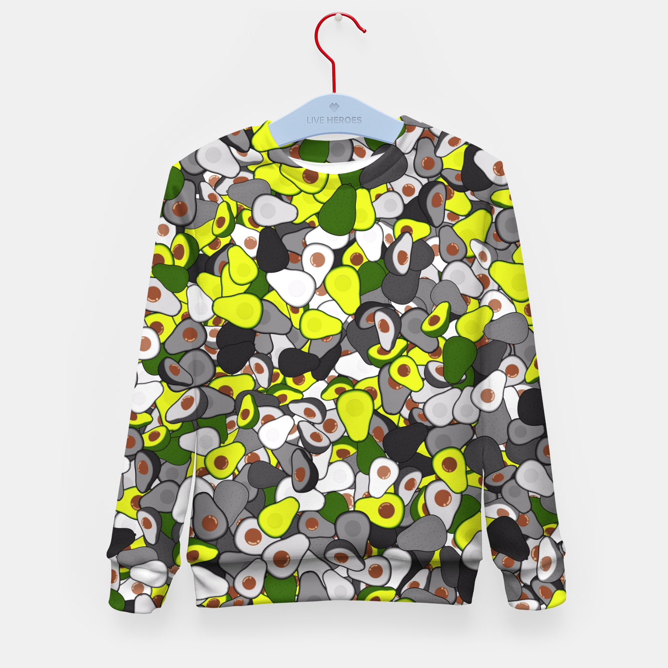 Image of Avocado camouflage Kid's sweater - Live Heroes