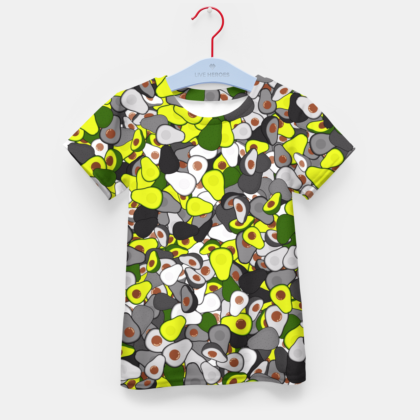 Image of Avocado camouflage Kid's t-shirt - Live Heroes