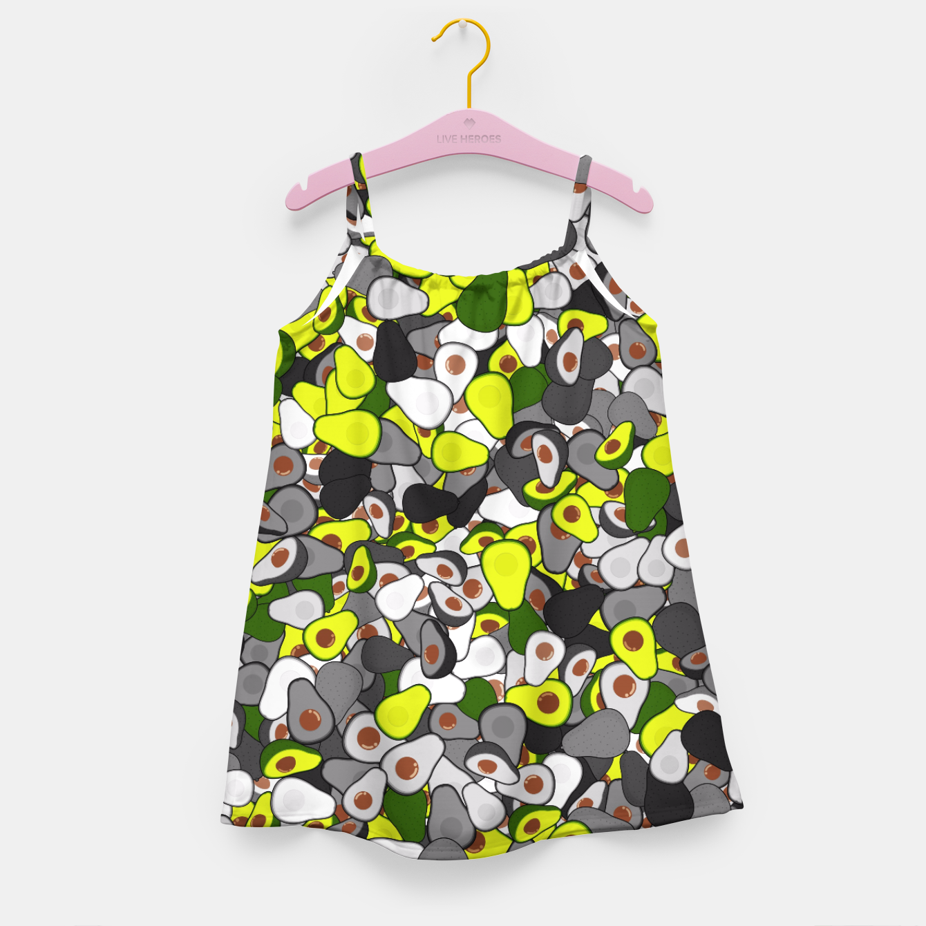 Image of Avocado camouflage Girl's dress - Live Heroes