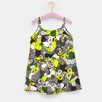 Avocado camouflage Girl's dress thumbnail image