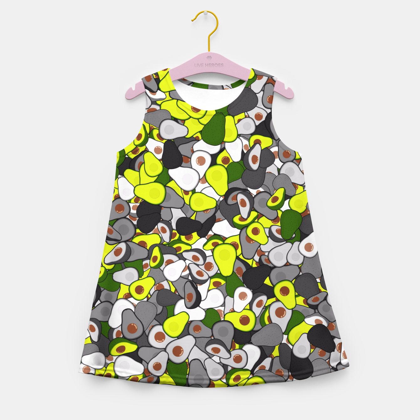 Image of Avocado camouflage Girl's summer dress - Live Heroes