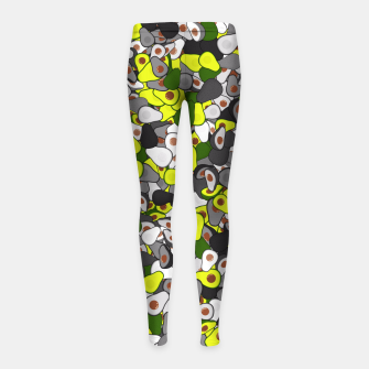 Thumbnail image of Avocado camouflage Girl's leggings, Live Heroes