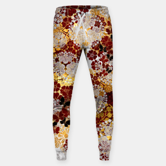Miniatur Japanese traditional family crest art. flower and butterfly Sweatpants, Live Heroes