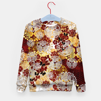 Miniatur Japanese traditional family crest art. flower and butterfly Kid's sweater, Live Heroes