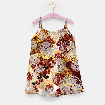 Miniatur Japanese traditional family crest art. flower and butterfly Girl's dress, Live Heroes
