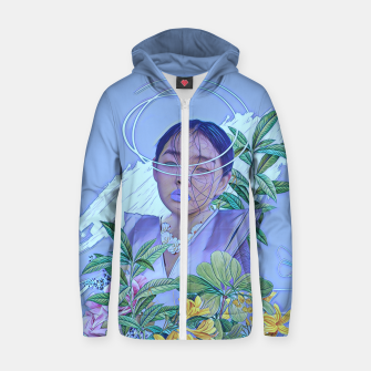 Thumbnail image of Floral lines Zip up hoodie, Live Heroes