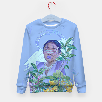 Thumbnail image of Floral lines Kid's sweater, Live Heroes