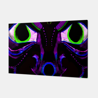 Miniatur Demon Ethnic Mask Extreme Close Up Illustration Canvas, Live Heroes
