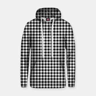 Mini Black and White Western Cowboy Buffalo Check Gingham Hoodie imagen en miniatura