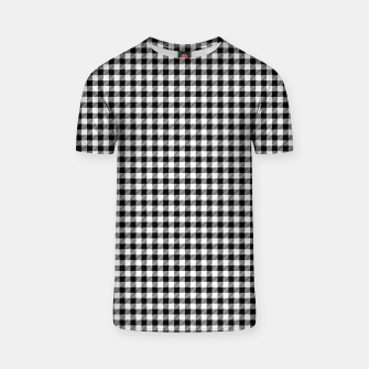 Mini Black and White Western Cowboy Buffalo Check Gingham T-shirt imagen en miniatura