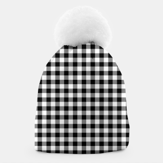 Miniaturka Classic Black and White Western Cowboy Buffalo Check Gingham Beanie, Live Heroes