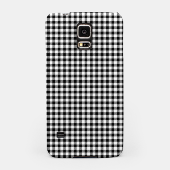 Mini Black and White Western Cowboy Buffalo Check Gingham Samsung Case imagen en miniatura