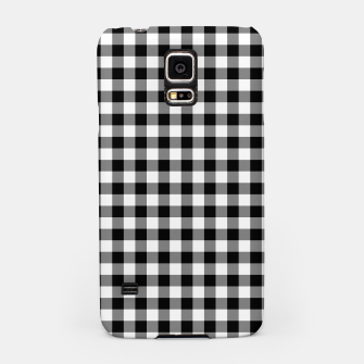 Miniaturka Classic Black and White Western Cowboy Buffalo Check Gingham Samsung Case, Live Heroes