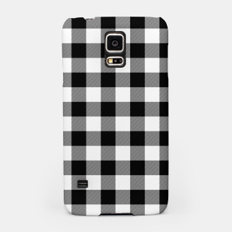 Large Size Black and White Western Cowboy Buffalo Check Gingham Samsung Case imagen en miniatura