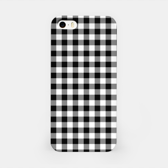 Miniatur Classic Black and White Western Cowboy Buffalo Check Gingham iPhone Case, Live Heroes