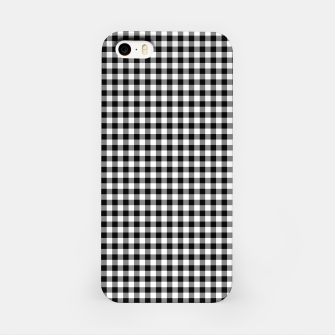 Mini Black and White Western Cowboy Buffalo Check Gingham iPhone Case imagen en miniatura