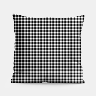 Miniaturka Mini Black and White Western Cowboy Buffalo Check Gingham Pillow, Live Heroes