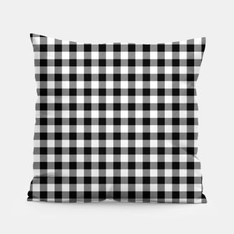 Miniaturka Classic Black and White Western Cowboy Buffalo Check Gingham Pillow, Live Heroes