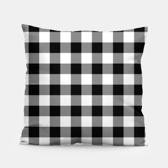Large Size Black and White Western Cowboy Buffalo Check Gingham Pillow imagen en miniatura