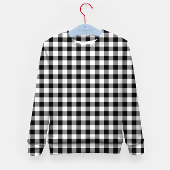 Miniaturka Classic Black and White Western Cowboy Buffalo Check Gingham Kid's sweater, Live Heroes