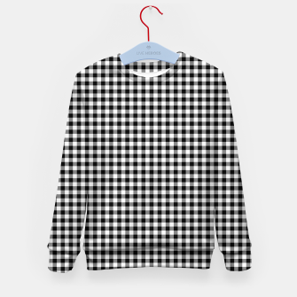 Mini Black and White Western Cowboy Buffalo Check Gingham Kid's sweater imagen en miniatura
