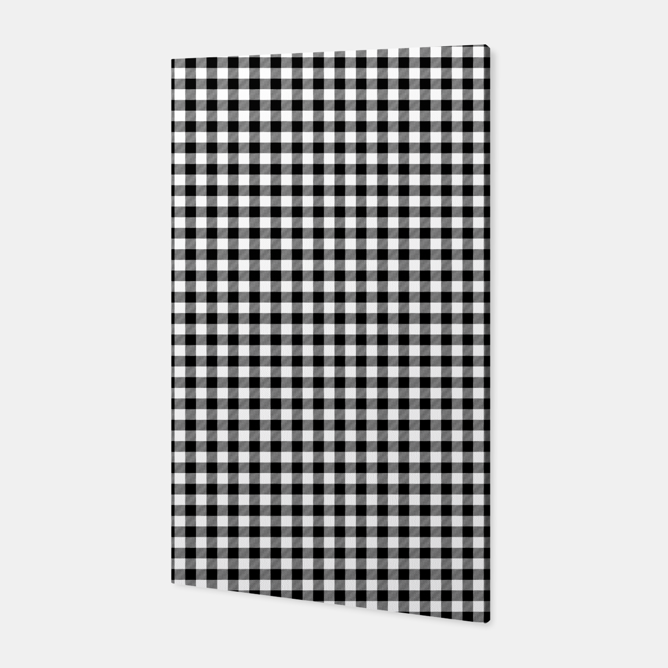 Imagen de Mini Black and White Western Cowboy Buffalo Check Gingham Canvas - Live Heroes