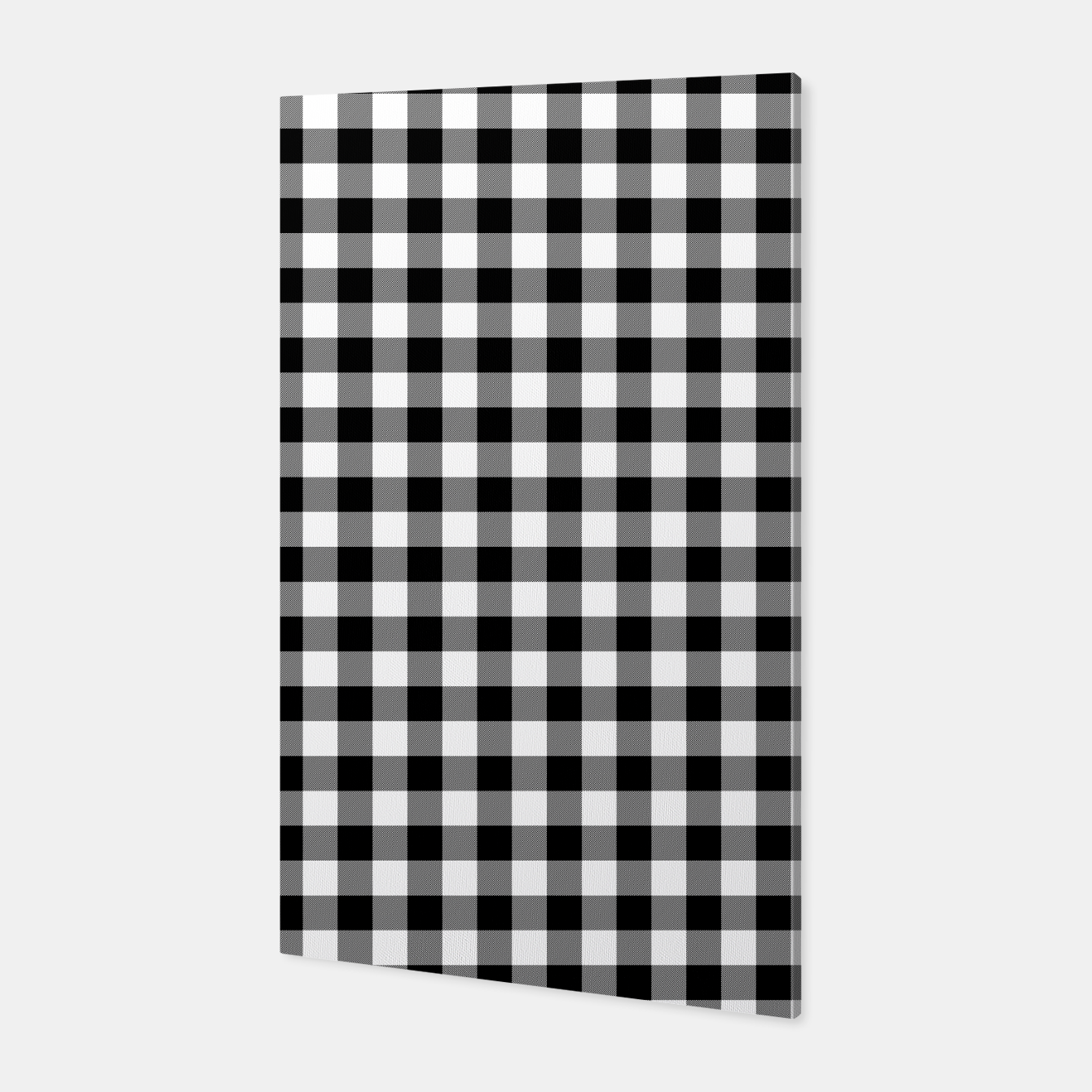 Imagen de Classic Black and White Western Cowboy Buffalo Check Gingham Canvas - Live Heroes