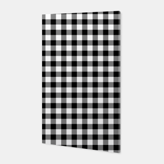 Thumbnail image of Classic Black and White Western Cowboy Buffalo Check Gingham Canvas, Live Heroes