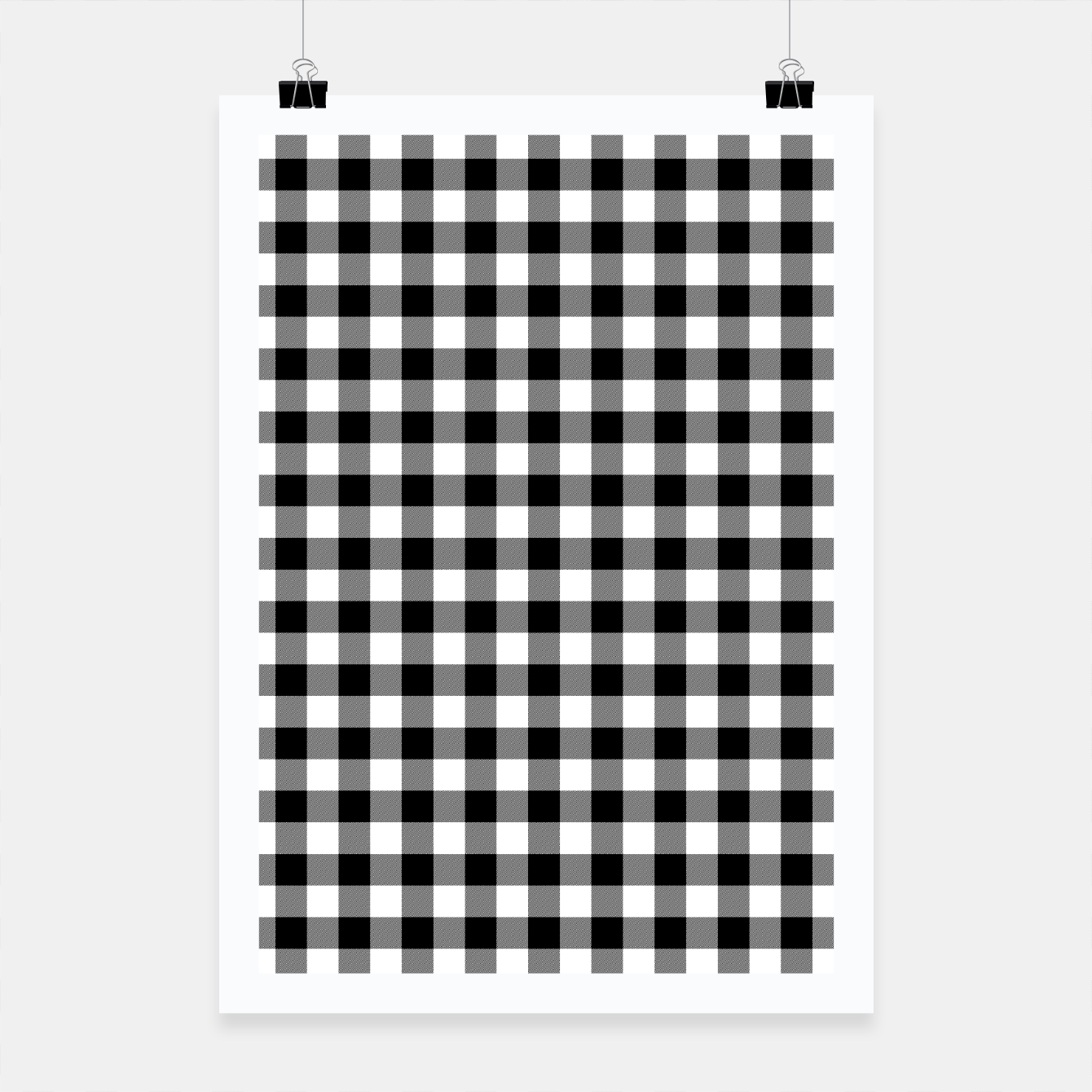 Imagen de Classic Black and White Western Cowboy Buffalo Check Gingham Poster - Live Heroes