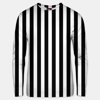 Thumbnail image of Classic Black and White Football Referee Stripes  Unisex sweater, Live Heroes