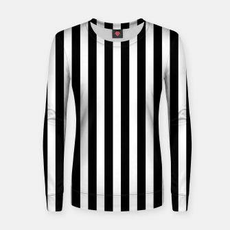 Thumbnail image of Classic Black and White Football Referee Stripes  Women sweater, Live Heroes