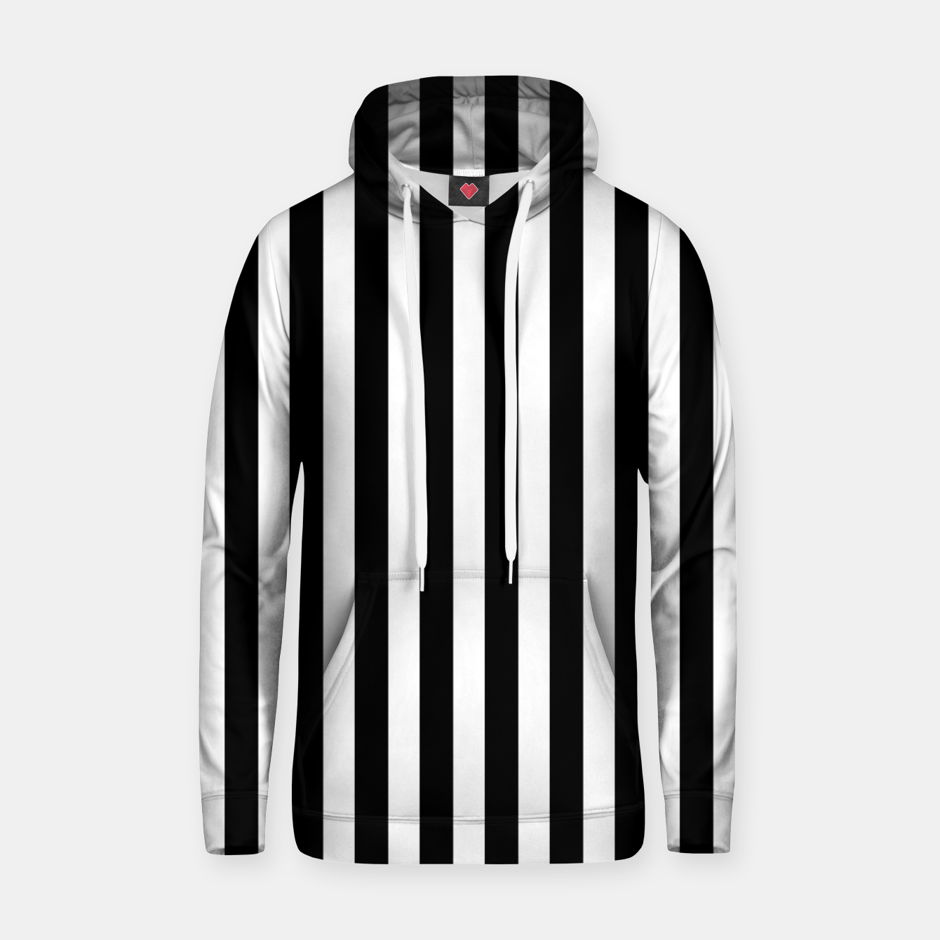 Imagen de Classic Black and White Football Referee Stripes  Hoodie - Live Heroes
