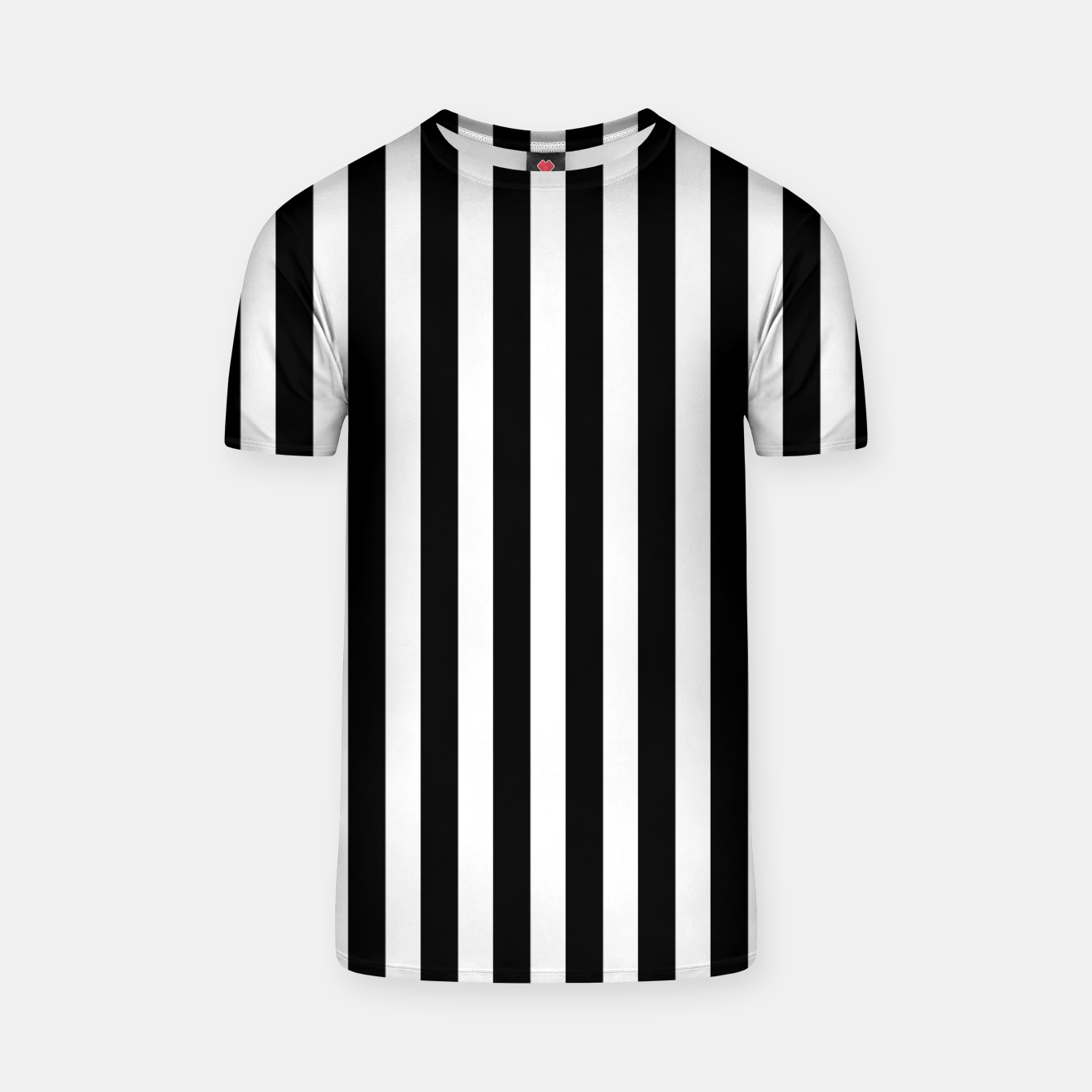 Imagen de Classic Black and White Football Referee Stripes  T-shirt - Live Heroes
