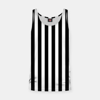Miniatur Classic Black and White Football Referee Stripes  Tank Top, Live Heroes