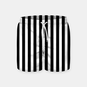 Thumbnail image of Classic Black and White Football Referee Stripes  Swim Shorts, Live Heroes