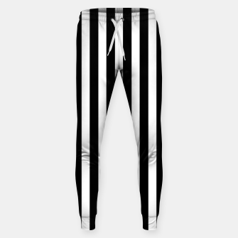 Thumbnail image of Classic Black and White Football Referee Stripes  Sweatpants, Live Heroes