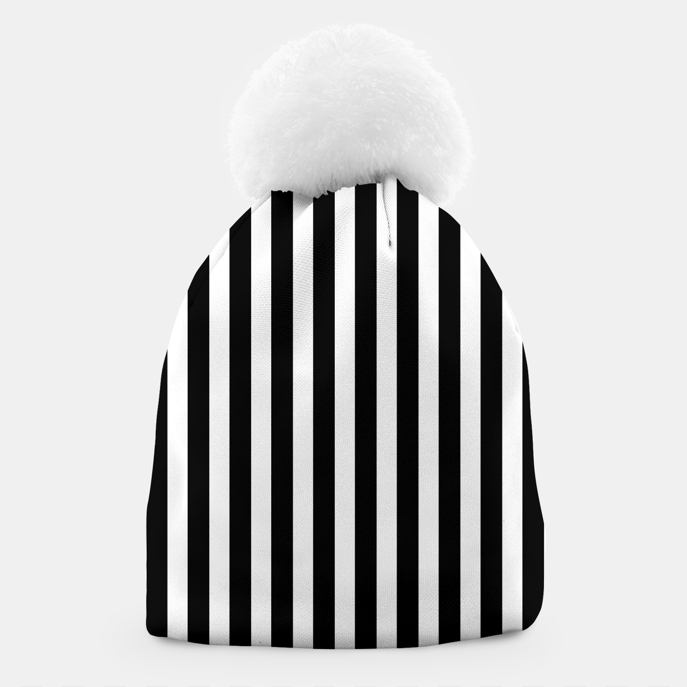 Imagen de Classic Black and White Football Referee Stripes  Beanie - Live Heroes