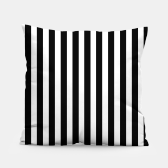 Thumbnail image of Classic Black and White Football Referee Stripes  Pillow, Live Heroes