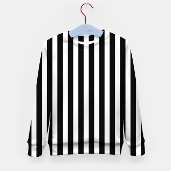 Thumbnail image of Classic Black and White Football Referee Stripes  Kid's sweater, Live Heroes
