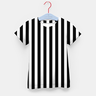 Thumbnail image of Classic Black and White Football Referee Stripes  Kid's t-shirt, Live Heroes