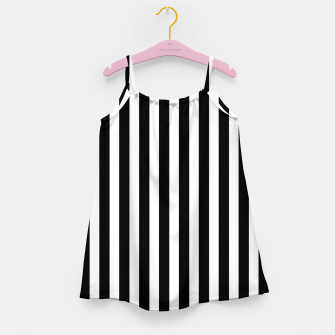 Thumbnail image of Classic Black and White Football Referee Stripes  Girl's dress, Live Heroes