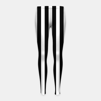 Thumbnail image of Classic Black and White Football Referee Stripes  Girl's leggings, Live Heroes