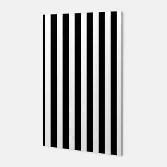 Thumbnail image of Classic Black and White Football Referee Stripes  Canvas, Live Heroes