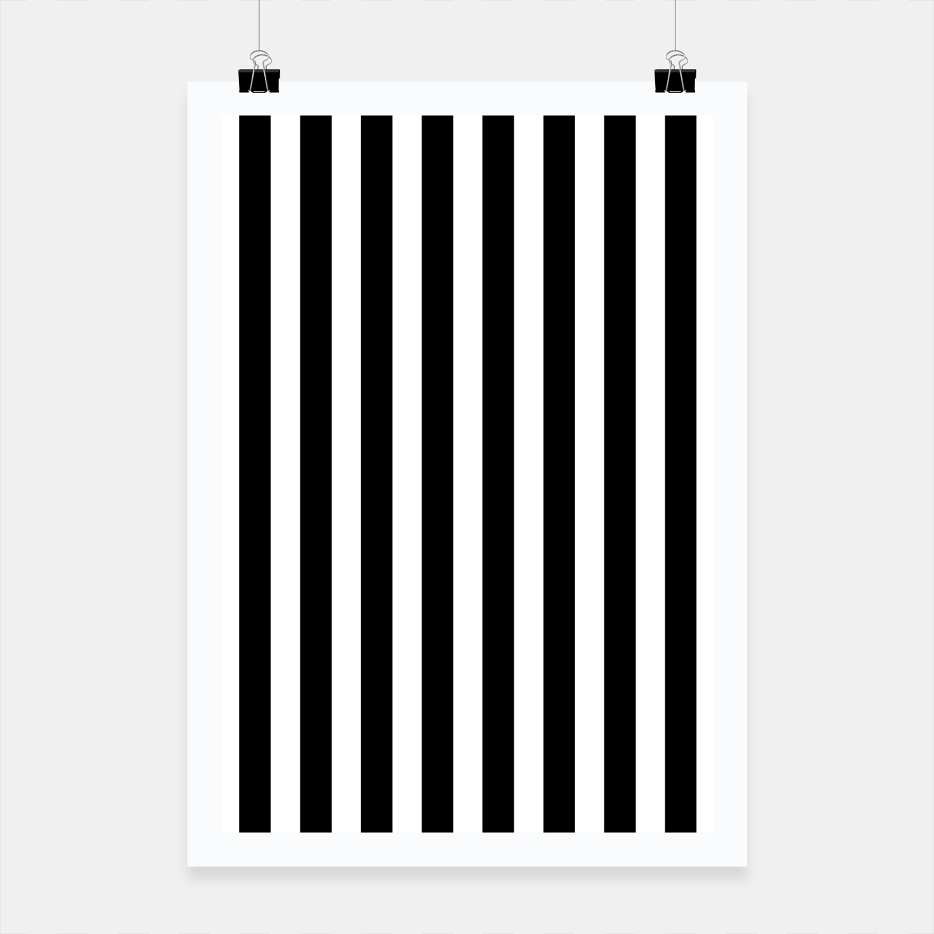 Imagen de Classic Black and White Football Referee Stripes  Poster - Live Heroes