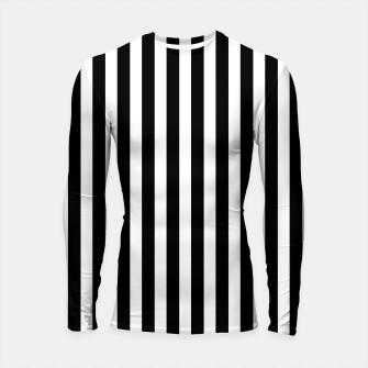 Thumbnail image of Classic Black and White Football Referee Stripes  Longsleeve rashguard , Live Heroes
