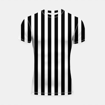 Thumbnail image of Classic Black and White Football Referee Stripes  Shortsleeve rashguard, Live Heroes
