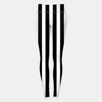 Thumbnail image of Classic Black and White Football Referee Stripes  Leggings, Live Heroes