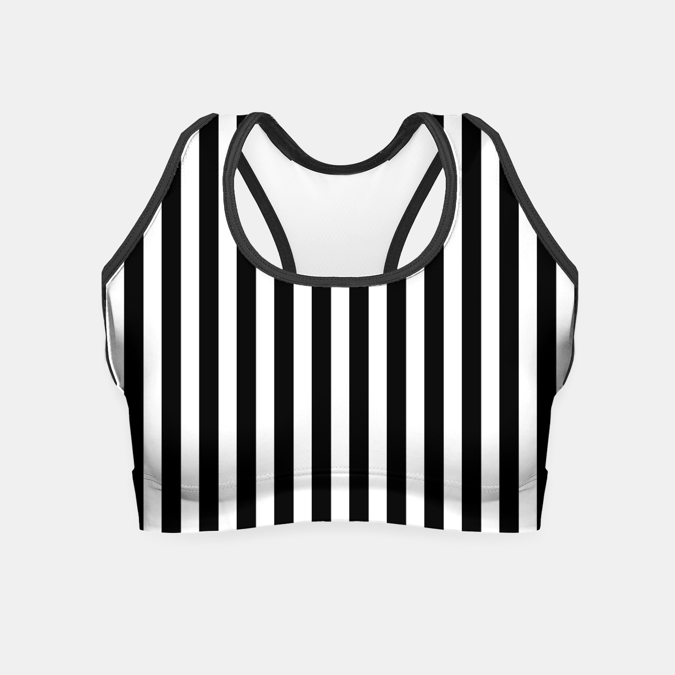 Imagen de Classic Black and White Football Referee Stripes  Crop Top - Live Heroes