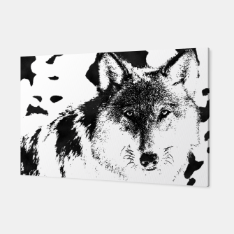 Thumbnail image of wolf black&white Canvas, Live Heroes